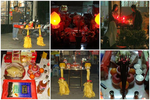 Worshiping on Chinese New Year's Eve