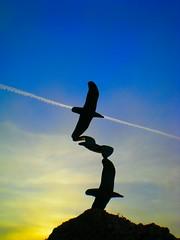 Wish I could fly... (pantherinia_hd Anna A.) Tags: travel sculpture seagulls birds island fly wings mediterranean aegean loveit greece rhodes vacations rodi breathtaking pathway smrgsbord goldenglobe blueribbonwinner  supershot 10faves  goldenmix  golddragon challengeyouwinner abigfave  ultimateshot superbmasterpiece diamondclassphotographer flickrdiamond ysplix theunforgettablepictures eperke psaropoula  excapture theperfectphotographer katopetres    qualitypixels