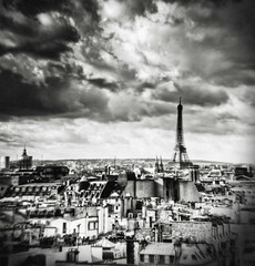 Eiffel Tower from Beaubourg