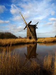 Brograve Mill HDR Version (Gerry Balding) Tags: england mill video norfolk reflexions hdr horsey broads windpump novideo blueribbonwinner brograve goldstaraward worldwidelandscapes