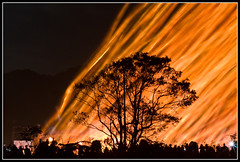 flames (mingshah) Tags: nightphotography light red orange tree wow fire glow topc75 chinese taiwan chinesenewyear firework pi burn flare shifen pingsi laterns pingxi taipeicounty laternfestival mywinners anawesomeshot top20taiwan lpday skylaterns alemdagqualityonlyclub