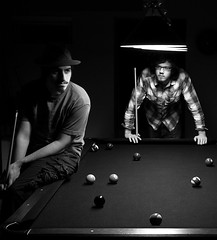 From my untitled short film (AustinDressman) Tags: film pool wall brian stall short billiards productions poolballs andrejs