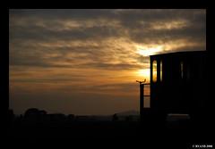 Tramonto con cabina (ryanbecker12) Tags: sunset sun station tramonto cabina sole stazione campiglia contruluce