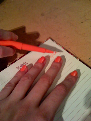 Always match your nails to your flair pens