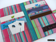 Credit Card Holder (sew-mad) Tags: handmade wallet sewing organizer card credit holder tschchen kreditkarte sewmadbadge dawanda sewmad