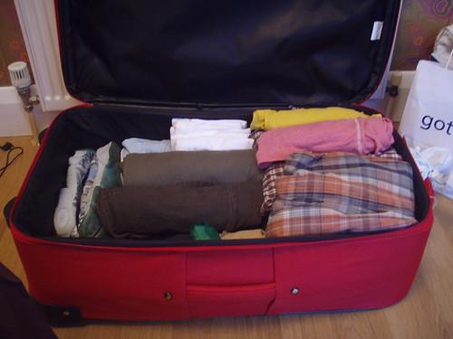 Suitcase half full