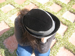 Top view of hat