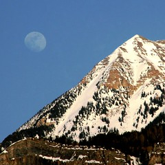 So Near and Yet So Far Away.... (janoid) Tags: moon wow evening utah bravo alpine moonrise april xoxo manquelitoishere janoidmagic utahstyle iwasenchantedtoo