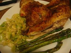Chicken, leek and asparagus