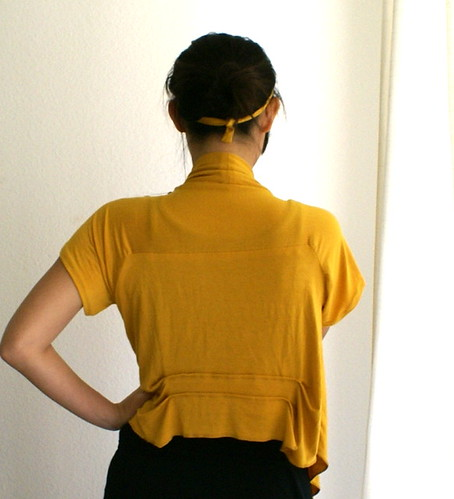 yellow cardi back