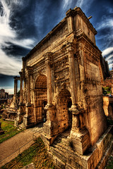Arch of Septimius Severus (dfworks) Tags: italy rome roma architecture canon ancient hdr 30d 3xp photomatix sigma1020 colorphotoaward superaplus aplusphoto