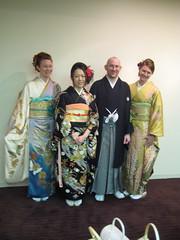 Jana, L., David, Alana in Kimono