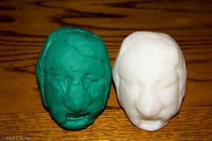 Matt Murphy Clay Head Sculpture in Clay and ABS