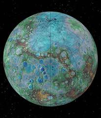 Mercurio nasconde ghiaccio nei crateri polari (astronomia24) Tags: comete ghiaccio mercurio messenger