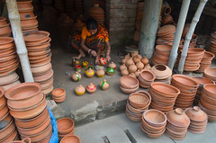 Do what you love to do! (ashik mahmud 1847) Tags: bangladesh d5100 nikkor pottery working color woman people pattern group texture circle
