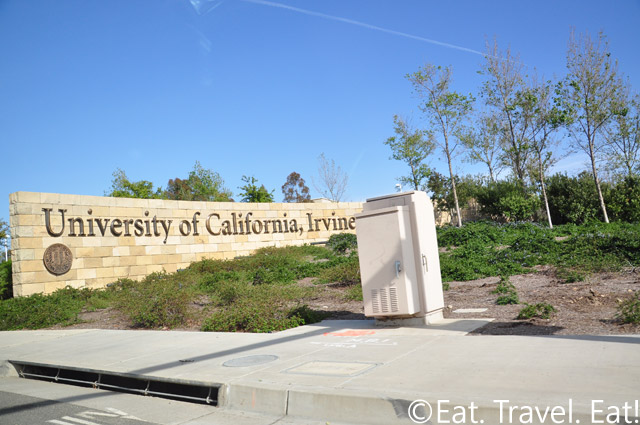 UCI Welcome Sign Bison Entry