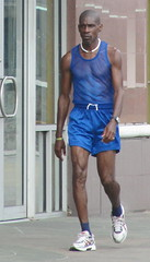 Blue Boy (Legin_2009) Tags: road street blue people man black male men guy socks walking person persona athletic shoes exercise gente walk african bald guys sneakers personas chain sidewalk males caribbean shorts seethrough persons athlete fitness hombre fit hommes männer homme hombres mec singlet люди mecs 男子 gason אנשים الرجال पुरुषों 男子hommes 男性homens