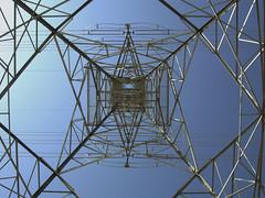 Electricity (aZ-Saudi) Tags: sky under arabic pylon saudi arabia electricity network ksa arabin  arabs