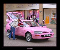 Spot the pinks (Sir Cam) Tags: city pink cambridge england car october boots cancer toyota breastcancer breastcancerawareness corolla thinkpink blueribbonwinner cambridgeeveningnews sidneystreet supershot diamondclassphotographer theperfectphotographer passionatelypinkforthecure andyskars andysbras