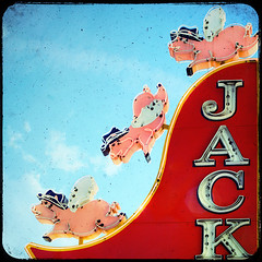 when pigs fly... (solecism) Tags: sign flying neon nashville tennessee broadway bbq barbecue pigs swine jacks winged barbque jacksbarbeque whenpigsfly t4l fakettv texturebynesster texturebytokenygaard