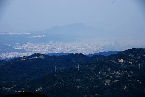 拉卡山遠眺台北盆地