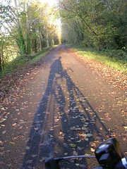 Long morning shadows (analogueandy) Tags: thecommute saltford nationalcyclenetwork ncn4 sustrans voteconnect2