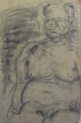 charcoal figure study, man