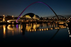 Newcastle Quayside at twilight