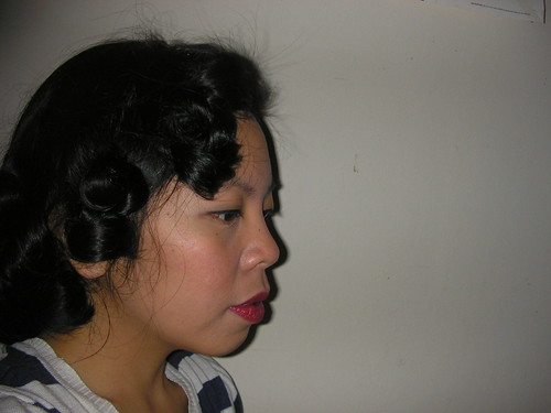 pin curls hairstyle. Pincurls hairstyle keywords: