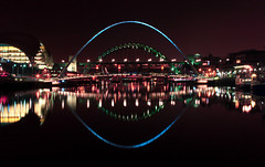 Newcastle Upon Tyne, UK (i.rashid007) Tags: uk bridge night newcastle landscape lights nightshot tynebridge newcastleupontyne