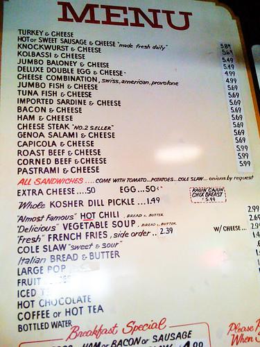primanti bros menu