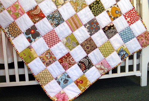 Lotus Patchwork Quilt - finished