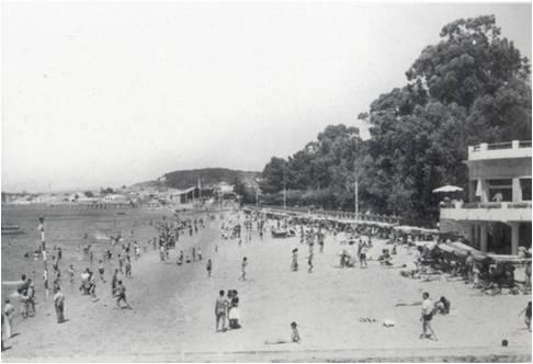 Praia e parque de Compostela