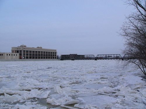 Grand River Ice Jam, 31 January 2008, 9:00am