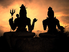 Idols (aliveandclickin) Tags: sunset india silhouette interestingness traditional explore shiva hindu hpc vizag visakhapatnam explored lordofdestruction