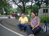 Eating Taho the old way - Sitting …