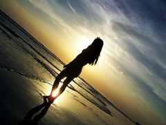 walk with me... (Scarleth White) Tags: sunset shadow beach girl beginnerdigitalphotographychallengewinner beginnerdigitalphotographychallenge
