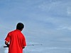 why.. red is so unique (ahmed (John)) Tags: blue red sky cloud man john island photo fishing flickr sunny interest mladives excellence yougotit blueribbonwinner plus4 plus4excellence invitedphotosonlyplus4 wonderfulworldmix