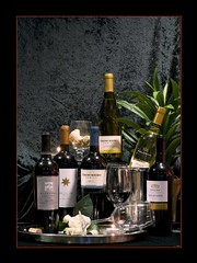 Wine Service (Mary Susan Smith) Tags: stilllife glass wine bottles commercial candlelight productphotography bigmomma 15challengeswinner photofaceoffwinner photofaceoffgoldmedal pfogold