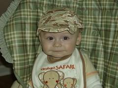 Jonas in his camoflage cap Feb.08 (Posh Bosh) Tags: feb2008