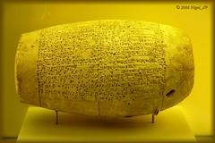 Berlin - historical art #22 (nigel_xf) Tags: berlin art yellow nikon kunst d70s egypt nikond70s gelb nigel pergamonmuseum gypten keilschrift cuneiformwriting cmwdweeklywinner nigelxf