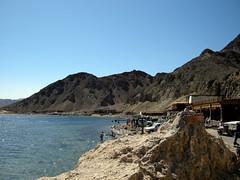 The Blue Hole dive site (mattk1979) Tags: blue mountain coast sand day desert hole dahab egypt clear sinai bluehole gulfofaqaba