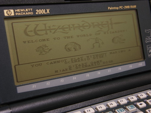 Wizardry on HP200LX
