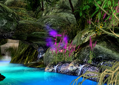 Flowers (Lessandra Sandial) Tags: travel blue red mountain green beautiful waterfall scenery sl exp