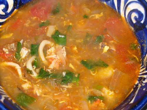 Vietnamese crab and squid soup