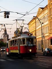 Czech Tram (backfirecptn) Tags: street public electric wire republic czech prague tram rail praha transportation