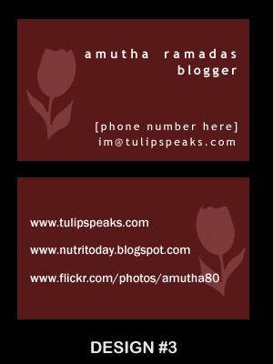 Name card - design 3