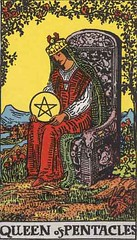 Queen of Pentacles (Midpath) Tags: tarot pentacles minorarcana queenofpentacles