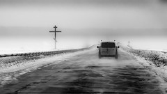Road blizzard (konstantin.radchenko) Tags: snow road blizzard winter car storm snowstorm traffic snowy white driving weather drive dangerous cold vehicle frozen city season transportation danger nature slippery visibility god bible christian cross jesus concept way pathway christ open worship symbol religion land story background stone orthodox field outdoors knowledge landscape environment wisdom space repentance mystery