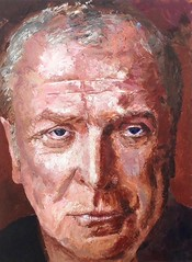 Michael Caine (artist - Peter White) (KlaatuCarpenter) Tags: artwork portrait peterwhite michaelcaine